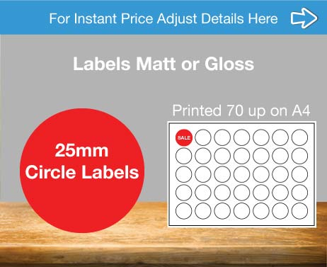 25mm circle labels