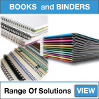 printed books and binders